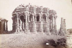Open mandapa of the Surya Temple from the south-east, Modhera, Gujarat 1900